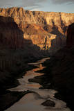 The Colorado River from the Ancient Ruins at Nankoweap Canyon  Grand Canyon Np