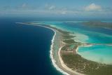 An Aerial of the Bora Bora Shoreline and Lagoon