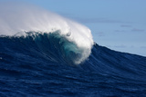 A Side View of a Monster Wave Breaking at Jaws