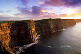 Sunset on the Cliffs of Moher  County Clare  Ireland