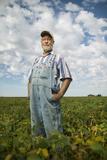 A Soybean Farmer on His Farm in Iowa