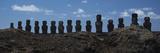 Ahu Tongariki on Easter Island Papier Photo par Michael Melford