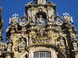 The Highly Detailed 'El Obradoiro' Facade of the Cathedral of Santiago De Compostela