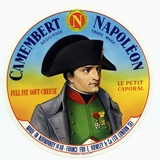 "Cheese Label ""Camembert Napoleon""  ""Le Petit Caporal""  Made in Normandy for Rowley and Co  London"