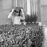 Jackie Kennedy Onassis (Nina Ricci Sunglasses) in Paris  Leaving Crillon Hotel  March  19  1970