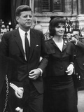 American President John Kennedy and His Wife Jackie June 1st  1961 During their Trip to Paris