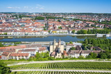 View over Wurzburg from Fortress Marienberg  Franconia  Bavaria  Germany  Europe