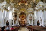 The Weiskirche (White Church)  UNESCO World Heritage Site  Near Fussen  Bavaria  Germany  Europe