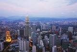 Kuala Lumpur Skyline Seen from Kl Tower  Kuala Lumpur  Malaysia  Southeast Asia  Asia