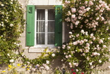 Roses Cover a House in the Village of Chedigny  Indre-Et-Loire  Centre  France  Europe