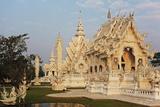 The White Temple (Wat Rong Khun)  Ban Rong Khun  Chiang Mai  Thailand  Southeast Asia  Asia