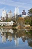 Midtown Skyline from Piedmont Park  Atlanta  Georgia  United States of America  North America