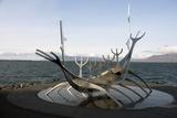Sculpture of the Sun Voyager  the Harbour  Reykjavik  Iceland  Polar Regions