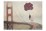 Golden Gate Ballons Reproduction d'art par Ashley Davis
