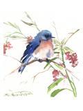 Blue Bird 8 Reproduction d'art par Suren Nersisyan