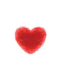 Love Heart Red Polygon
