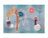 Round and Pointed, 1930 Giclée par Wassily Kandinsky