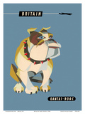 Britain, United Kingdom - English British Bulldog Reproduction d'art par Harry Rogers