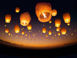 Flying Chinese Lanterns