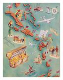 Map of Caribbean Islands - Bahama Islands - US Virgin Islands