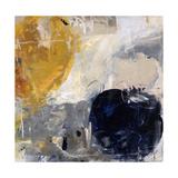 Gold Grey and Blue Giclée par Jodi Maas