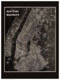 The Plan of New York and Brooklyn, 1867 Reproduction d'art par Frederick W. Beers