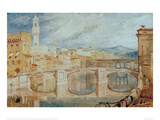 View of Florence from Ponte alla Carraia  1817/18