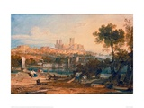 Lincoln Cathedral from the Holmes  Brayford  1802