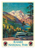 Mount Rainier National Park - Stampede Pass  Washington USA - Northern Pacific Railway