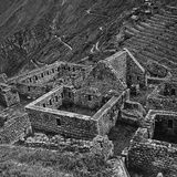 Ruins of Houses of the Lost City of the Incas  Machu Picchu  Peru
