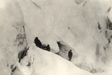 Snow Caves on Monte Nero During World War I
