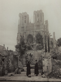 Cathedral of Reims Damaged During the Bombing of World War I