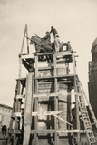 The Gattamelata Equestrian Monument under Restoration in Padova During WWI