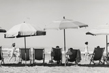Row of Umbrellas and Chairs-Beach in Viareggio