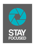 Stay Focused Circle 4 Reproduction d'art par NaxArt