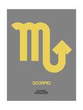 Scorpio Zodiac Sign Yellow on Grey