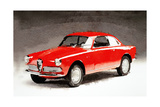 1958 Alfa Romeo Giulietta Sprint Watercolor
