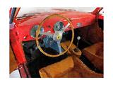 Ferrari 225 S Berlinetta Interior Watercolor
