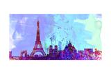 Paris City Skyline