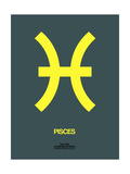 Pisces Zodiac Sign Yellow