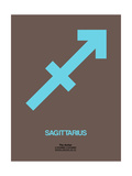 Sagittarius Zodiac Sign Blue
