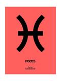 Pisces Zodiac Sign Black