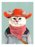 Rodeo Cat Reproduction d'art par Animal Crew