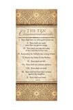 Les Dix Commandements Reproduction d'art par Jennifer Pugh