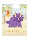 Tricératops Reproduction d'art par Jennifer Pugh
