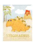 Stégosaure Reproduction d'art par Jennifer Pugh