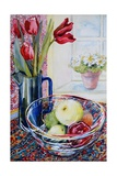 Tulips in a Jug With a Glass Bowl 2003