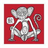 Chinese Zodiac Animal Astrological Sign Monkey