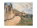 Les Roches at Falaise Near Giverny  1885