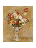 Tulips in a White Vase